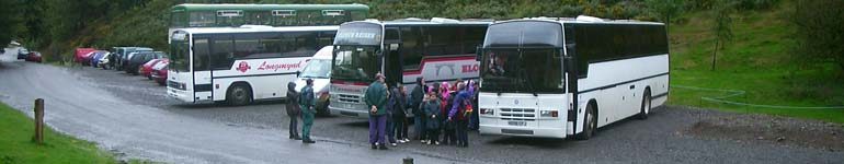A school arrives for a National Trust led visit